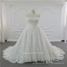 Strapless Lace Latest Design Bridal Wedding Dress